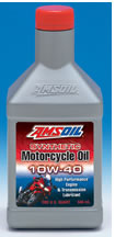 AMSOIL 10W-40 Synthetic Motorcycle Oil